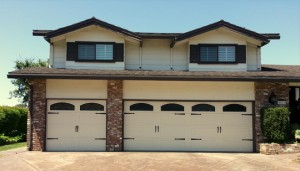 Steel carriage garage door installation by Perfect Solutions Garage door