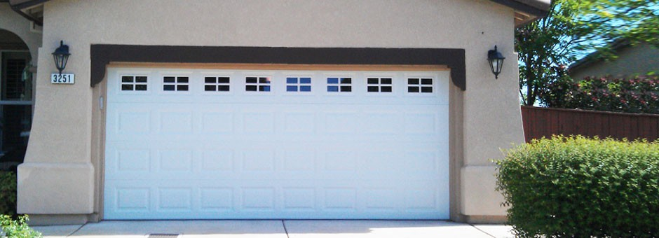 Steel garage door with windows in Roseville, CA