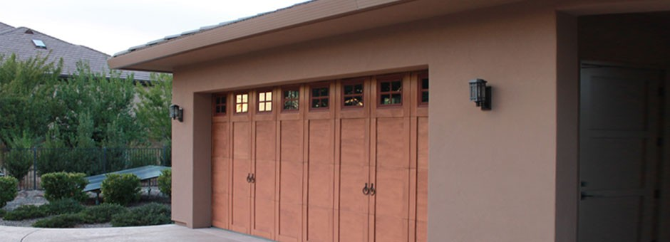 Wood Garage Door side look