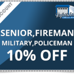Senior, Fireman, Military, Policeman 10% off