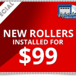 New Garage Door Rollers Installed For $99