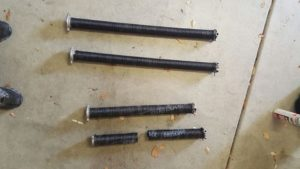Broken old springs vs new right size springs