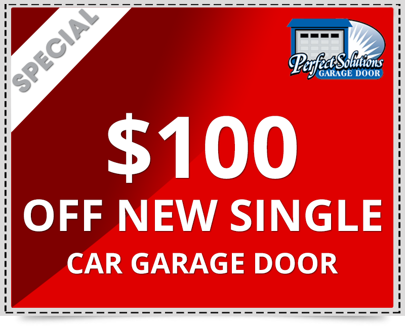 $100 discount for new single car garage door