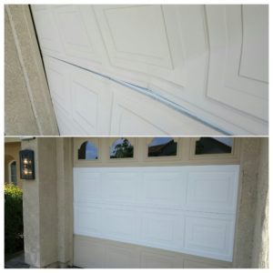Damaged panel replacement before & after