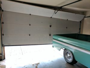off track garage door