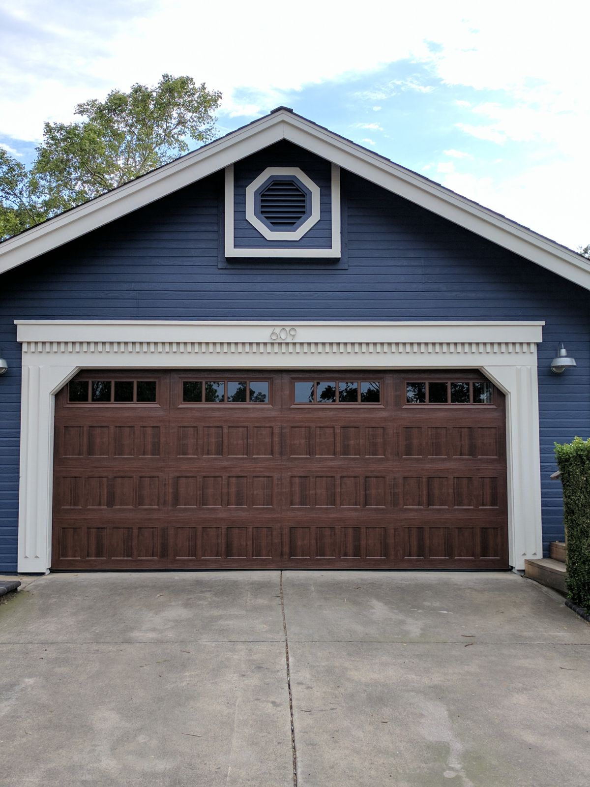 Amarr oak summit 1000 walnut garage door perfect for Garage doors