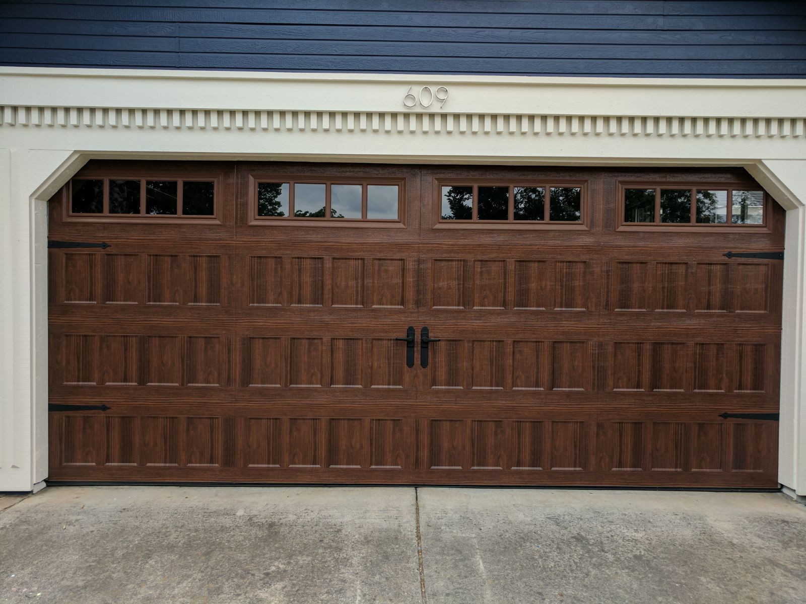 Amarr Oak Summit 1000 Walnut Garage Door Perfect
