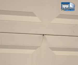 cracked garage door panel