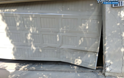 How can I tell if my garage door is damaged?