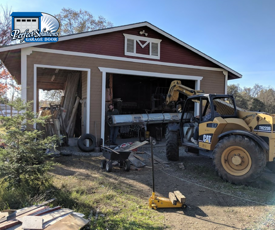 Commercial garage door installation on shed perfect