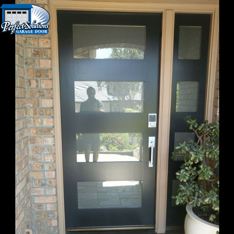 Entry door installation with matching garage doors for Entry door installation