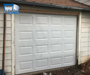 white UDT steel garage door