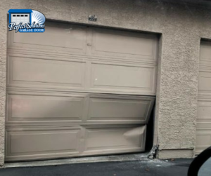 damaged garage door panel