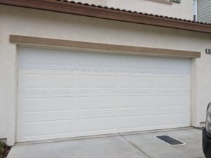 new solid panel garage door in lincoln ca