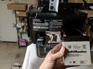 liftmaster garage door opener with battery backup